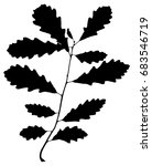 silhouette of twig of mongolian ... | Shutterstock .eps vector #683546719