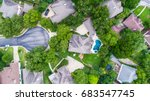 perfect straight down view... | Shutterstock . vector #683547745