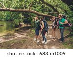 exploring  researches and... | Shutterstock . vector #683551009