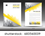 annual report brochure flyer... | Shutterstock .eps vector #683560039