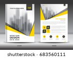 yellow cover annual report... | Shutterstock .eps vector #683560111