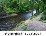 view along the minnehaha creek. | Shutterstock . vector #683565934
