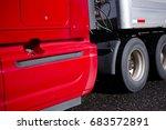 fragment of red modern big rig... | Shutterstock . vector #683572891