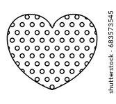 monochrome silhouette of heart... | Shutterstock .eps vector #683573545