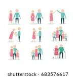 white background with color... | Shutterstock .eps vector #683576617
