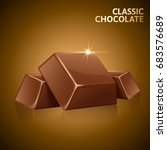 chocolate pieces element ... | Shutterstock .eps vector #683576689