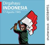 dirgahayu indonesia  indonesia... | Shutterstock .eps vector #683584951