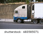 the big rig semi truck of the... | Shutterstock . vector #683585071
