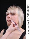 woman stylist makes...   Shutterstock . vector #68358580
