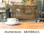 hot latte coffee in cafe | Shutterstock . vector #683588221