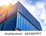 double exposure industrial...   Shutterstock . vector #683589997