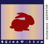 rabbit silhouette   vector... | Shutterstock .eps vector #683594749