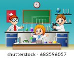 vector illustration of kids... | Shutterstock .eps vector #683596057