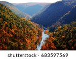 canyon in fall | Shutterstock . vector #683597569