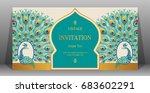 wedding invitation card... | Shutterstock .eps vector #683602291