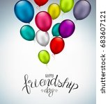happy friendship day  holiday... | Shutterstock .eps vector #683607121
