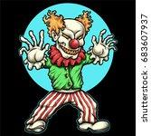Vector Illustration Of Evil...