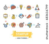 start up card or poster with... | Shutterstock .eps vector #683616799