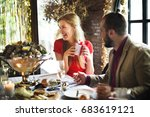 restaurant chilling out classy... | Shutterstock . vector #683619121