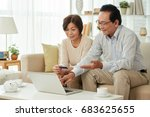 asian senior couple enjoying... | Shutterstock . vector #683625655