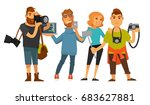 people professions photographer ... | Shutterstock .eps vector #683627881