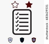 checklist icon  stock vector... | Shutterstock .eps vector #683629531