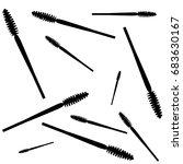 vector mascara pattern isolated ... | Shutterstock .eps vector #683630167