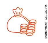 money icon vector. | Shutterstock .eps vector #683632645