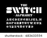 vector of modern stylized font... | Shutterstock .eps vector #683633554
