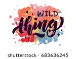 vector illustration of wild... | Shutterstock .eps vector #683636245