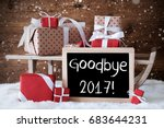 sleigh with gifts  snow ...   Shutterstock . vector #683644231