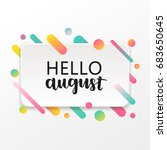 vector modern greeting card... | Shutterstock .eps vector #683650645