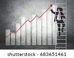 portrait of afro businessman... | Shutterstock . vector #683651461