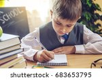back to school. cute child... | Shutterstock . vector #683653795