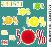 bright colorful summer sale... | Shutterstock .eps vector #683658301