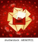 celebratory envelopes with red... | Shutterstock .eps vector #68365921