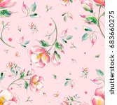 watercolor seamless pattern of... | Shutterstock . vector #683660275