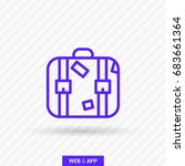 suitcase travel line vector icon | Shutterstock .eps vector #683661364