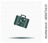 bag tourist web icon. vector... | Shutterstock .eps vector #683671615