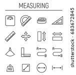 set of measuring icons in... | Shutterstock .eps vector #683672845