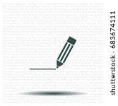pencil icon   vector... | Shutterstock .eps vector #683674111