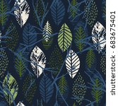 abstract autumn seamless... | Shutterstock .eps vector #683675401