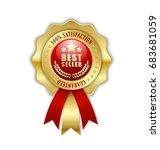 best seller rosette placed on... | Shutterstock .eps vector #683681059