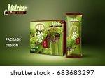 matcha azuki bean ice bar... | Shutterstock .eps vector #683683297
