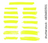 vector yellow highlighter brush ... | Shutterstock .eps vector #683683501