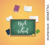 back to school illustration... | Shutterstock .eps vector #683687761