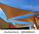 modern design pergola arbor... | Shutterstock . vector #683688661
