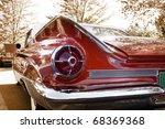 Close Up Shot Of A Vintage Car...