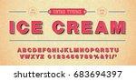 3d retro vector font  alphabet... | Shutterstock .eps vector #683694397