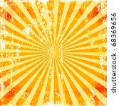 sunburst grunge rays background ... | Shutterstock . vector #68369656